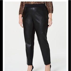 Michael Kors faux leather front leggings/pant. 1X